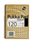 Pukka Pad Notebook Wirebound Perforated Ruled 120pp 80gsm A5 Vellum Ref VJM/2 [Pack 3]